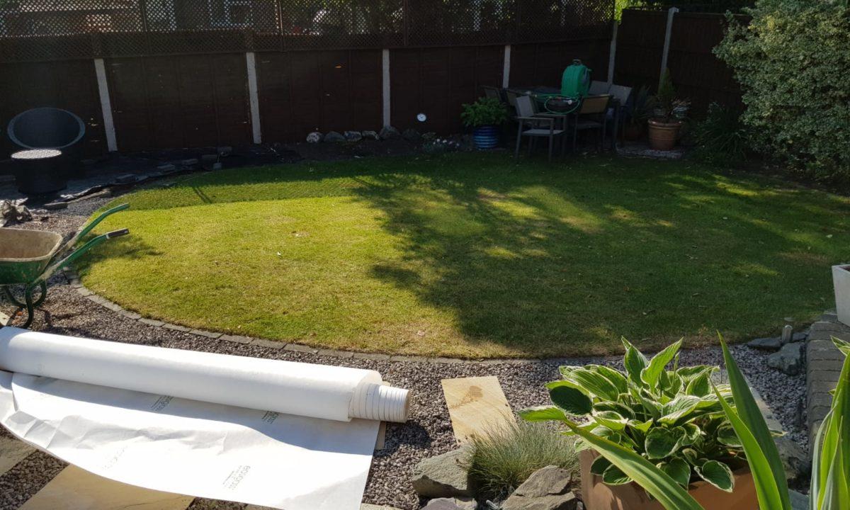 garden before artificial grass installation