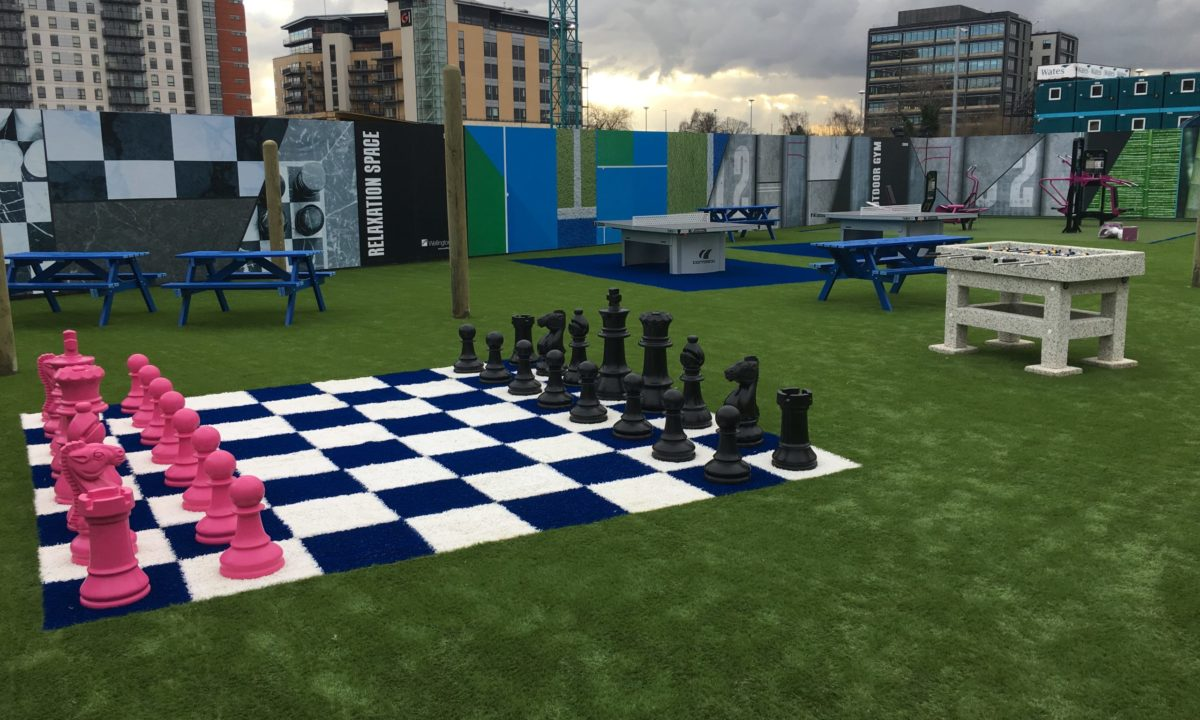 EasiPlay Commercial Amenities Area Wellington Place Leeds City Centre Chess Board