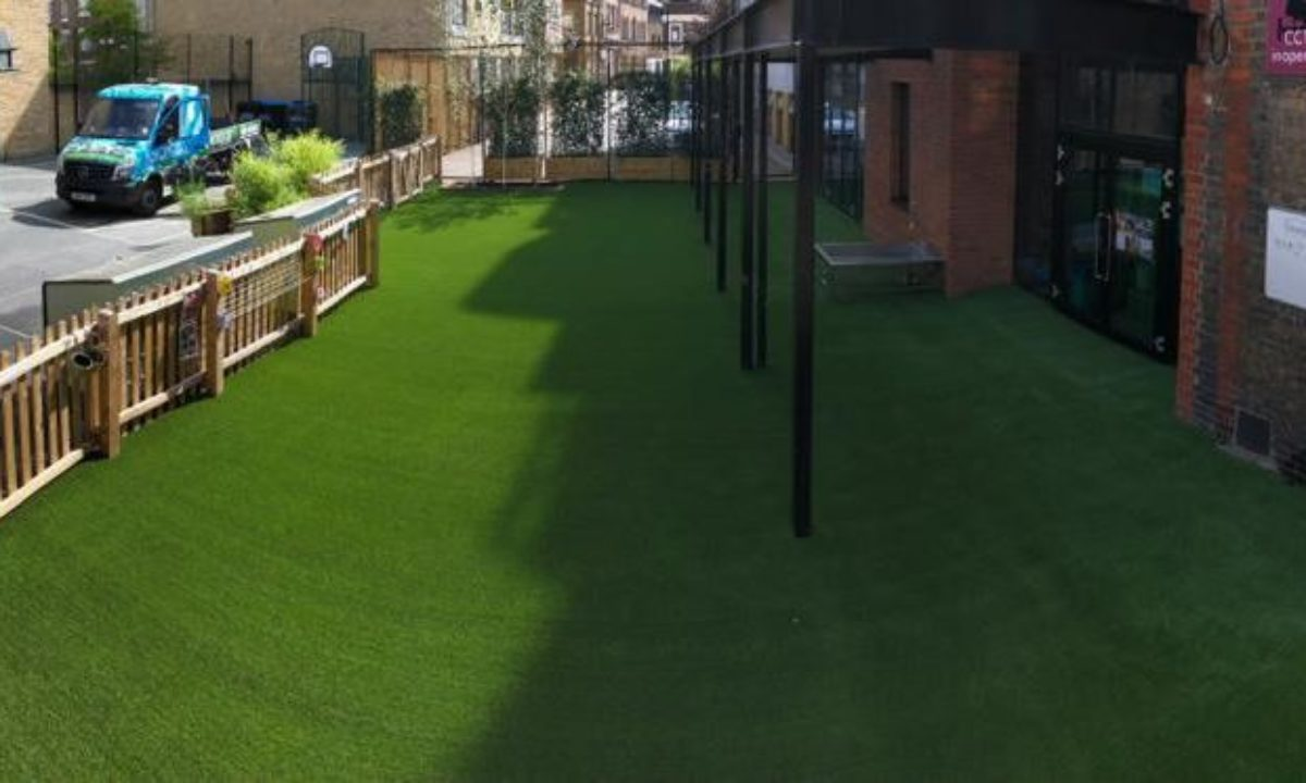 Artificial grass installed at primary shool
